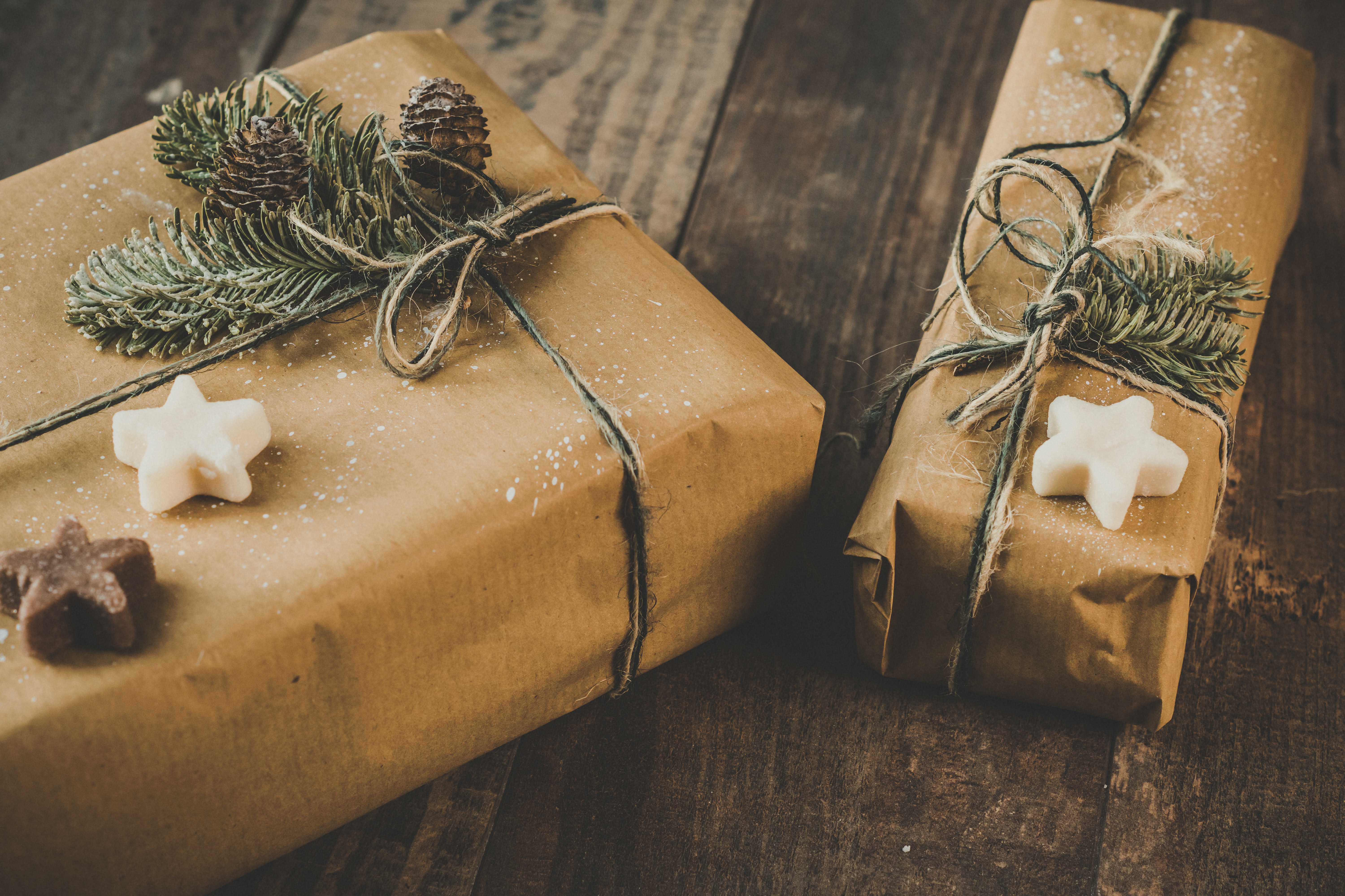 Presents in recycled paper