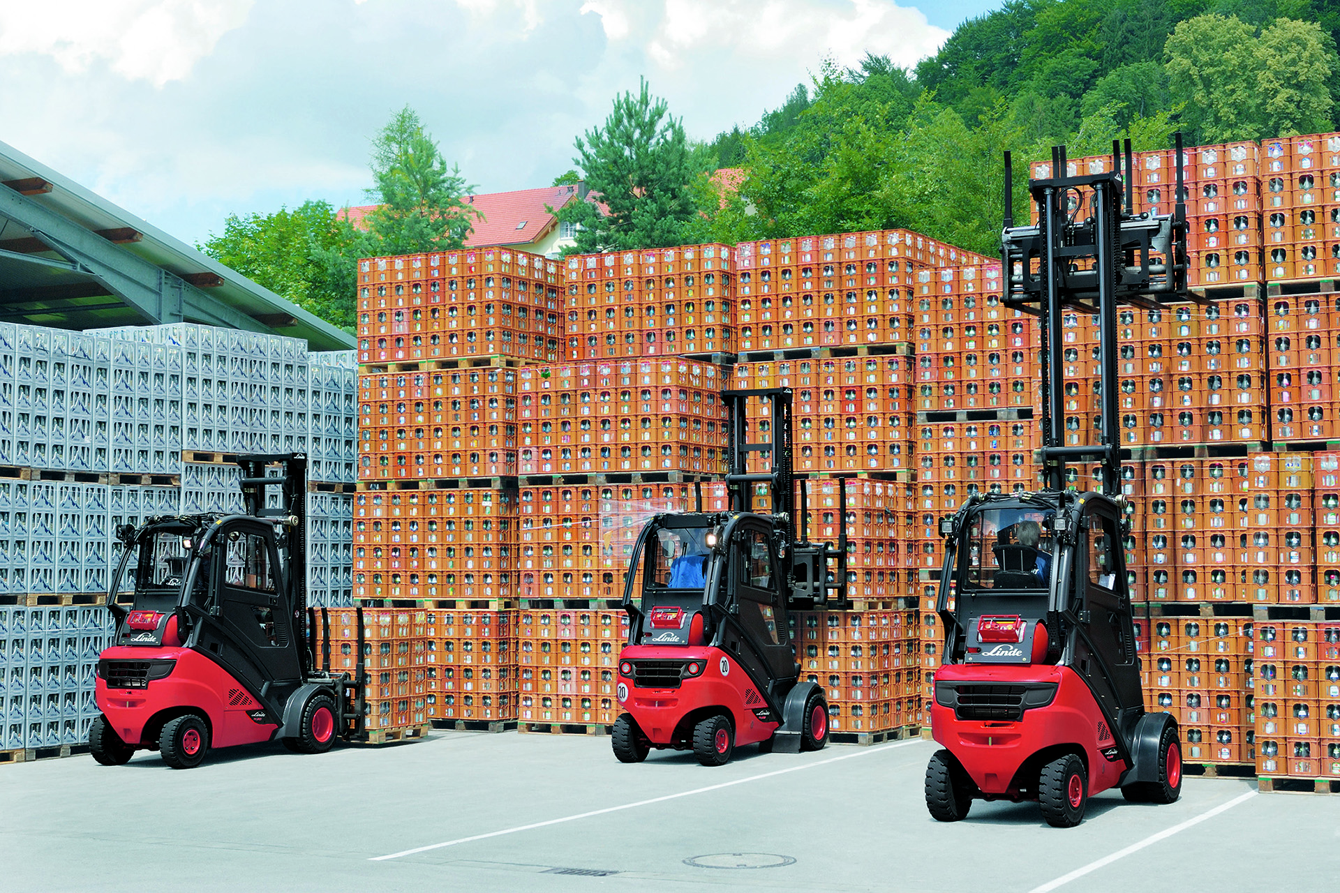 Three LPG powered Forklift Trucks