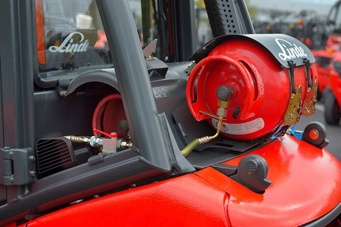 Calor LPG powered forklift truck