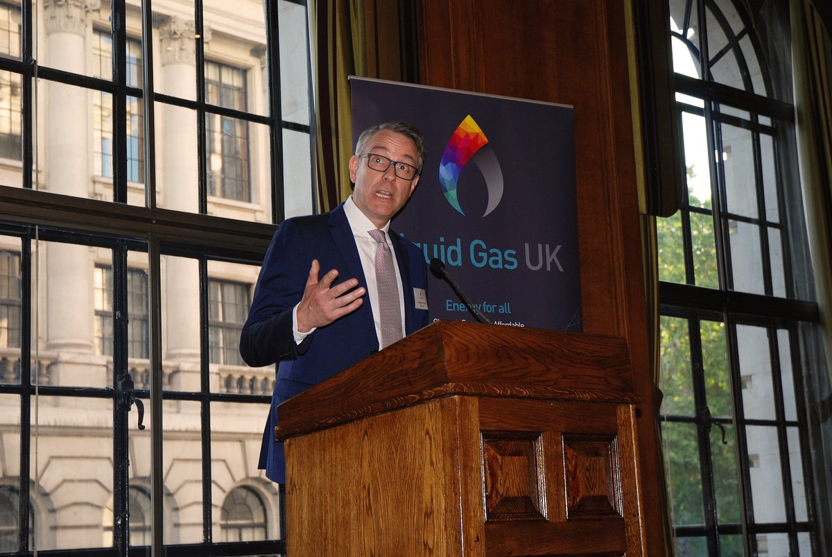 Matthew Hickin speaking at Liquid Gas UK launch