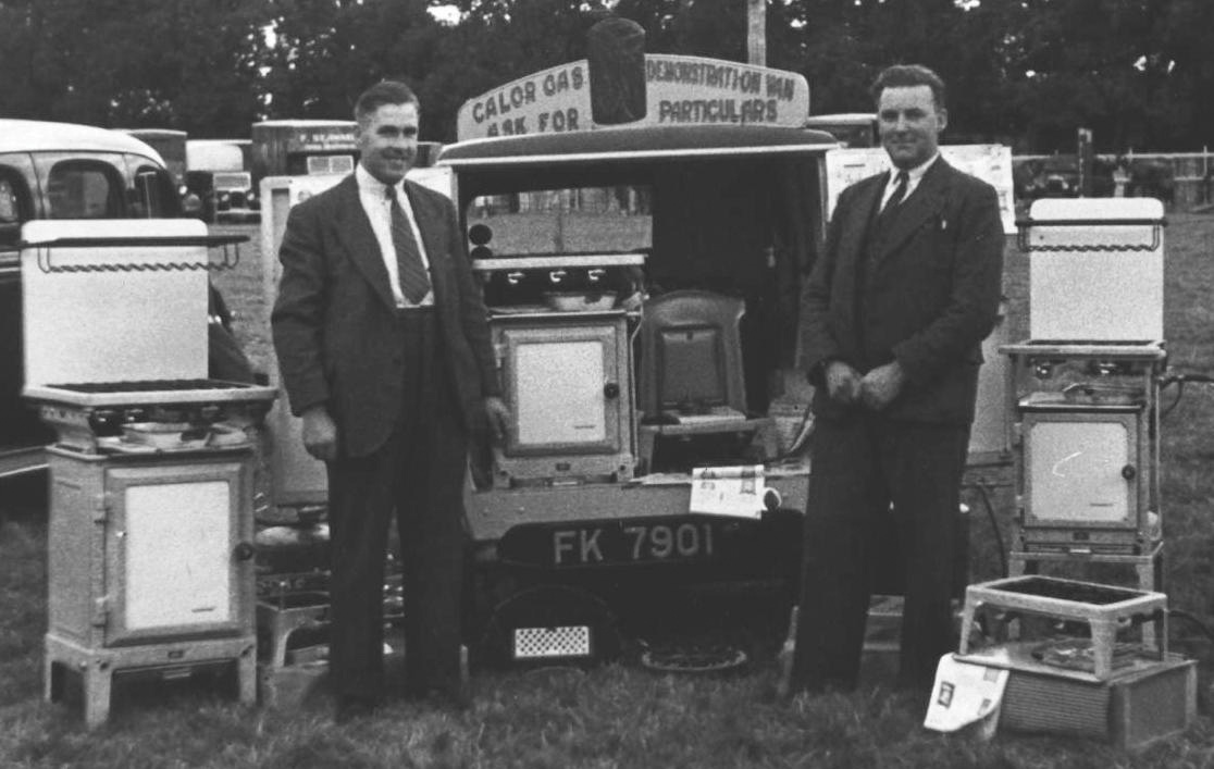 Salesmen issued with small vans which doubled as mobile showrooms