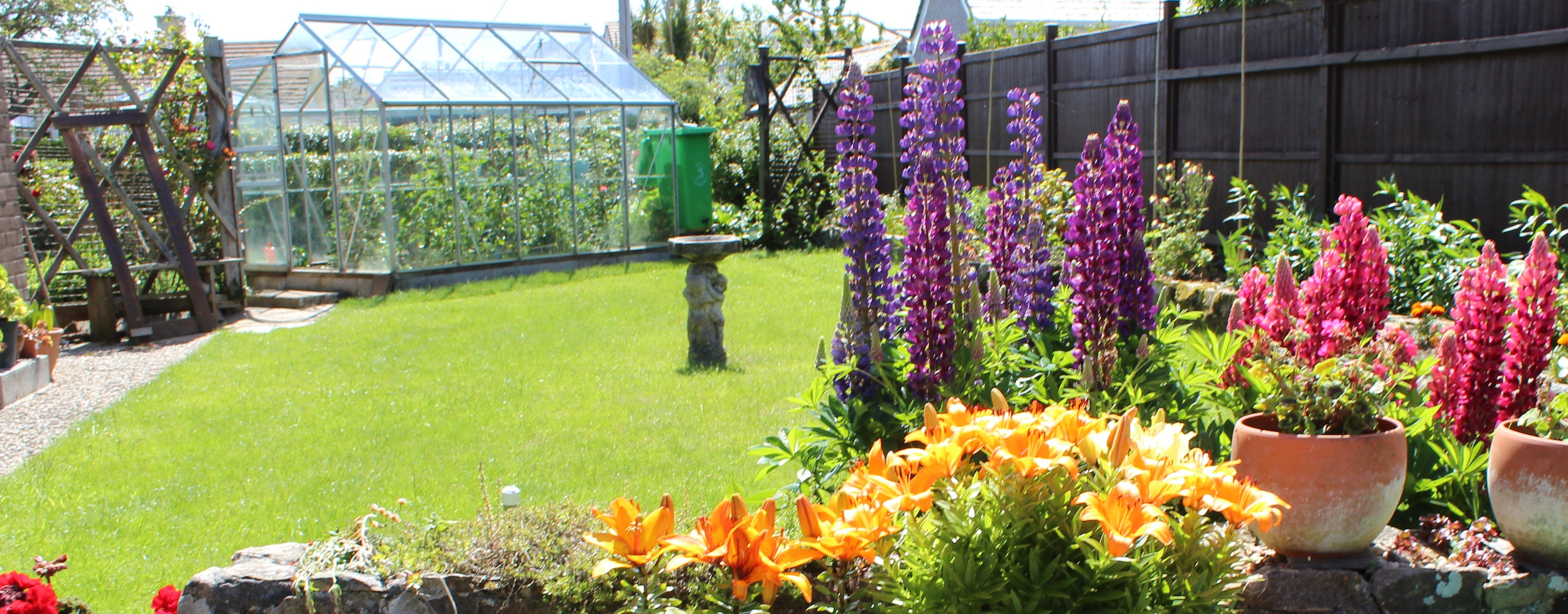 A bright, colourful garden, 3rd place in the Calor Gardens competition